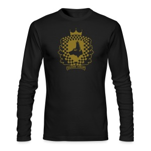 Black and Gold Longsleeve - Men's Long Sleeve T-Shirt by Next Level
