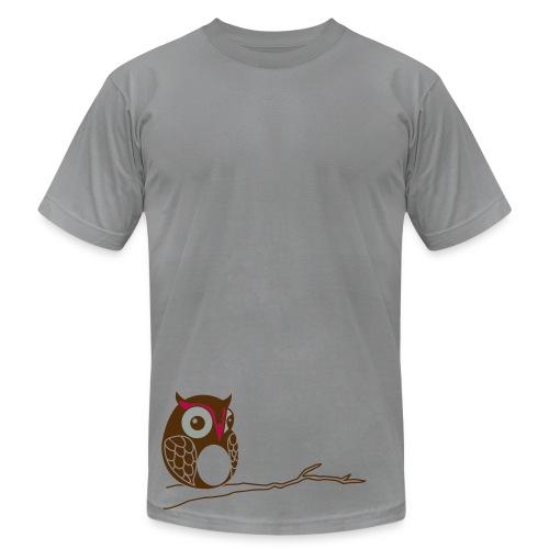 Hoot - Gray - Men's Fine Jersey T-Shirt