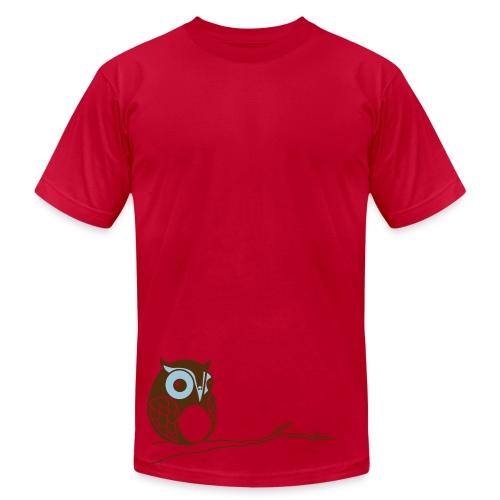 Hoot - Red - Men's Fine Jersey T-Shirt