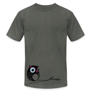 Hoot - Asphalt  - Men's Fine Jersey T-Shirt