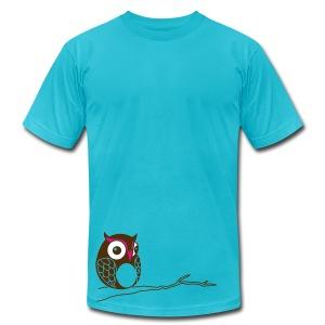 Hoot - Turquoise  - Men's Fine Jersey T-Shirt