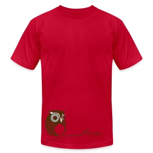 Hoot - Lime - Men's Fine Jersey T-Shirt