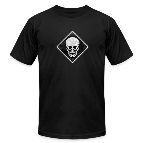 Skull AA-Tee (Weathered Look Skull) - Men's T-Shirt by American Apparel