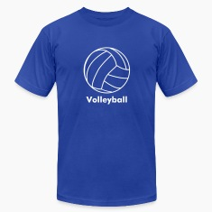 Royal blue volleyball T-Shirts
