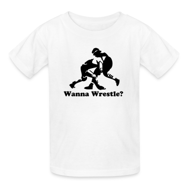White wrestling wrestlers Kids' Shirts