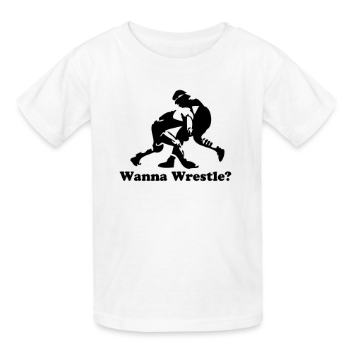 Wanna Wrestle? Wrestling Design - Kids' T-Shirt