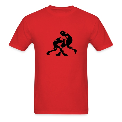 Wanna Wrestle? Wrestling Design - Men's T-Shirt