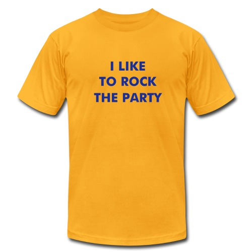 I Like To Rock The Party FUZZY FLOCK - Men's Fine Jersey T-Shirt