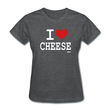 Deep heather i love cheese by wam Women's T-Shirts