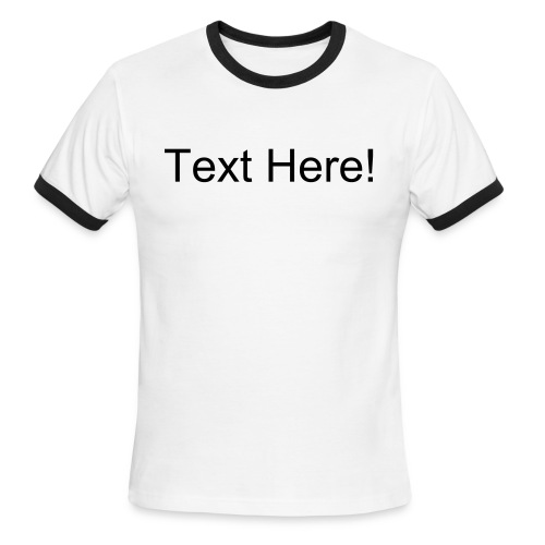 [Custom Text and Color] Men's Lightweight AA Ringer T-Shirt - Men's Ringer T-Shirt
