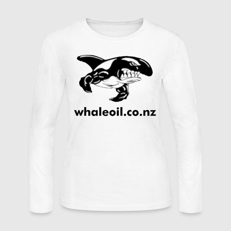 White Orca Whale with Muscles Long Sleeve Shirts - Women's Long Sleeve Jersey T-Shirt