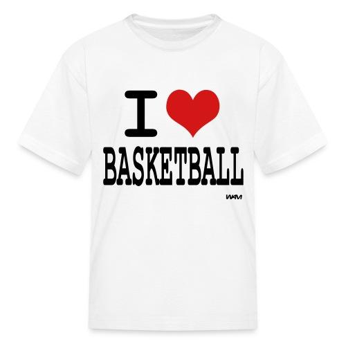 I Love Basketball T - Kids' T-Shirt