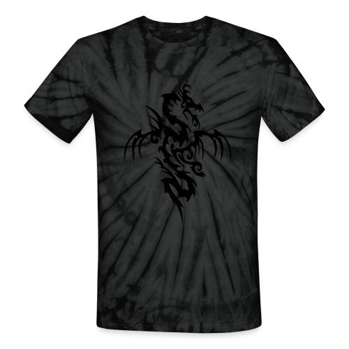 Grey Ti-Dragon - Unisex Tie Dye T-Shirt