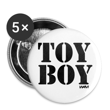 White toy boy by wam Buttons