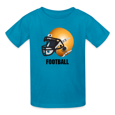 Orange orange football helmet Kids' Shirts