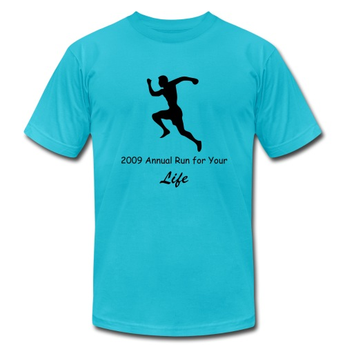 Run For Your life Custom Runner Shirt - Men's Fine Jersey T-Shirt