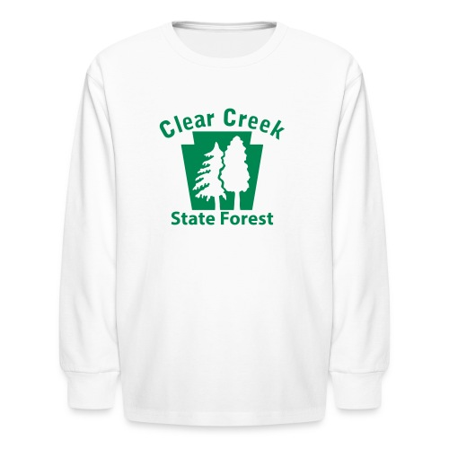 Clear Creek State Forest Keystone w/Trees - Kids' Long Sleeve T-Shirt