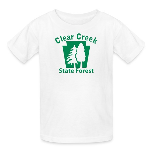 Clear Creek State Forest Keystone w/Trees - Kids' T-Shirt