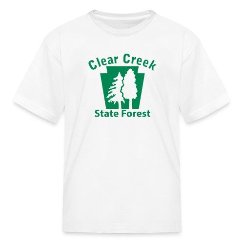 Clear Creek State Forest Keystone w/Trees - Kids' T-Shirt