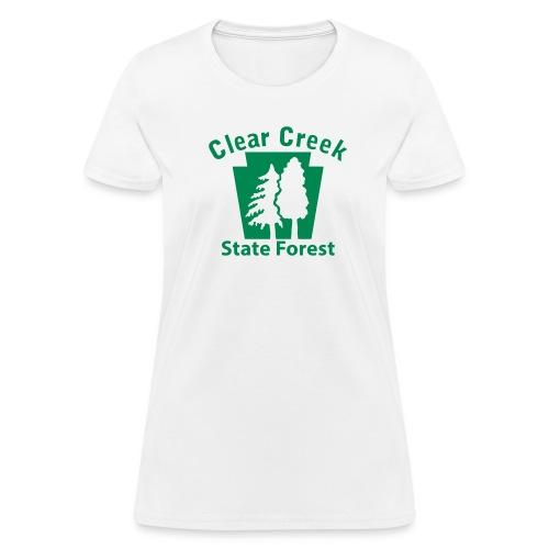 Clear Creek State Forest Keystone w/Trees - Women's T-Shirt