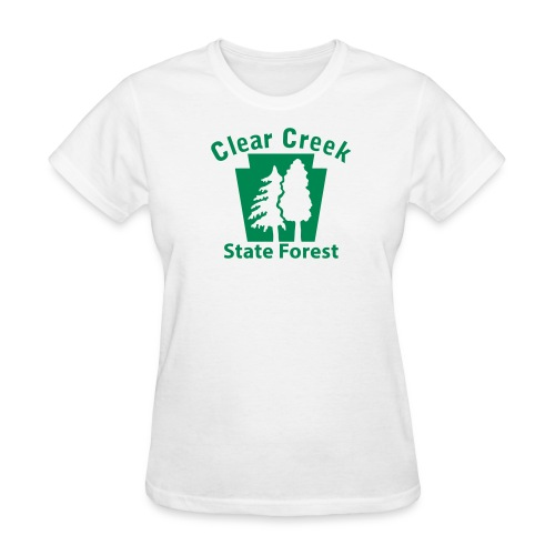 Clear Creek State Forest Keystone w/Trees - Women's T-Shirt