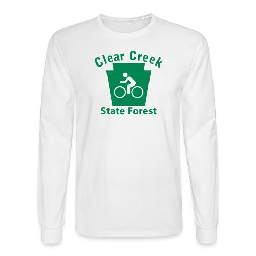 Clear Creek State Forest Keystone Biker - Men's Long Sleeve T-Shirt