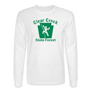 Clear Creek State Forest Keystone Climber - Men's Long Sleeve T-Shirt