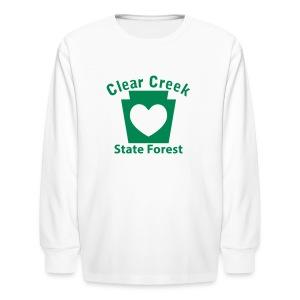 Clear Creek State Forest Keystone Heart - Kids' Long Sleeve T-Shirt