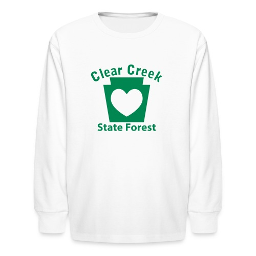Clear Creek State Forest Keystone Heart - Kids' Long Sleeve T-Shirt