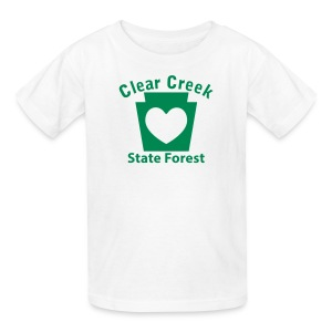Clear Creek State Forest Keystone Heart - Kids' T-Shirt