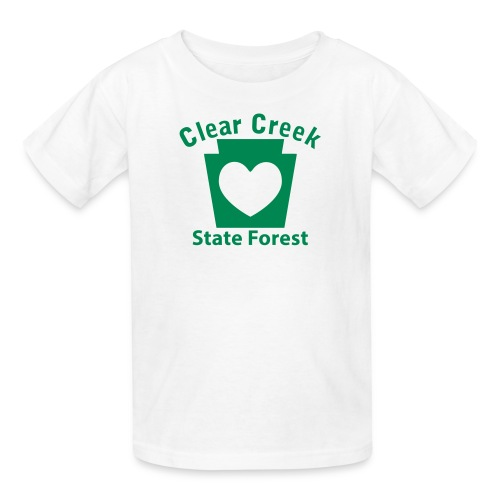 Clear Creek State Forest Keystone Heart - Kids' T-Shirt