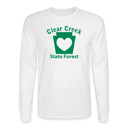 Clear Creek State Forest Keystone Heart - Men's Long Sleeve T-Shirt