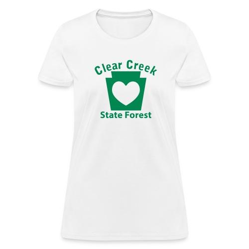 Clear Creek State Forest Keystone Heart - Women's T-Shirt
