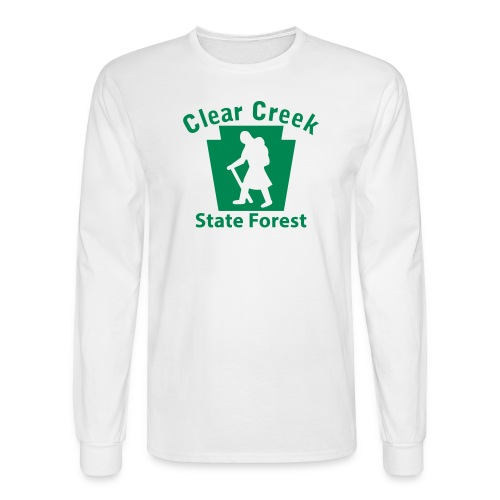 Clear Creek State Forest Keystone Hiker (female) - Men's Long Sleeve T-Shirt