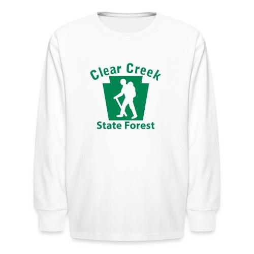 Clear Creek State Forest Keystone Hiker (male) - Kids' Long Sleeve T-Shirt
