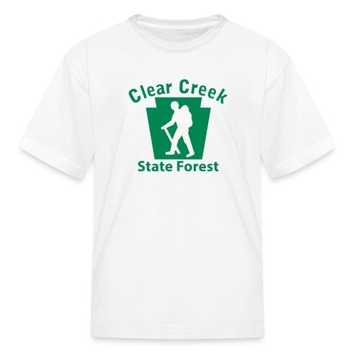 Clear Creek State Forest Keystone Hiker (male) - Kids' T-Shirt