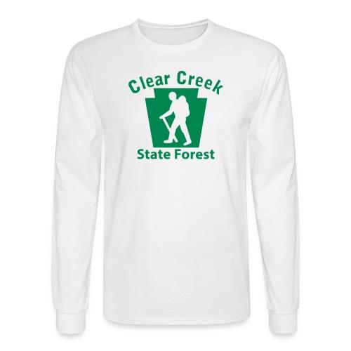 Clear Creek State Forest Keystone Hiker (male) - Men's Long Sleeve T-Shirt