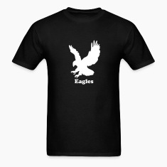 Black Custom Eagle Sports Graphic T-Shirts