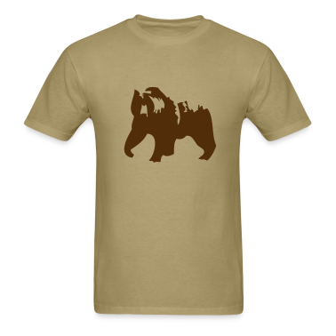 Khaki Grizzly bear  T-Shirts