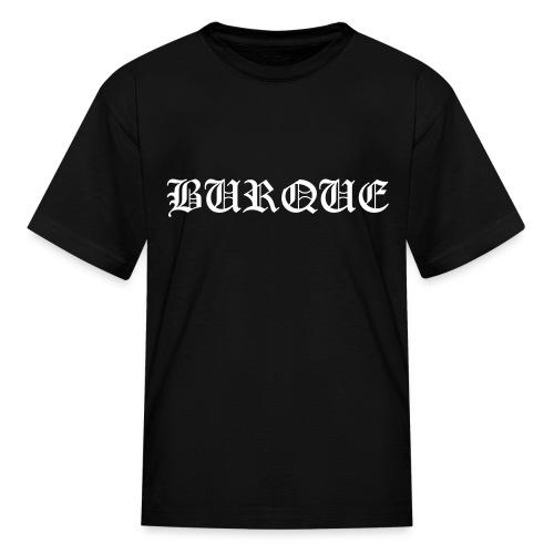 Burque Old English - Kids - black - Kids' T-Shirt