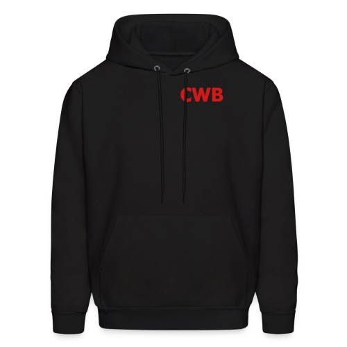 Crazy White Boys Black/Red - Men's Hoodie