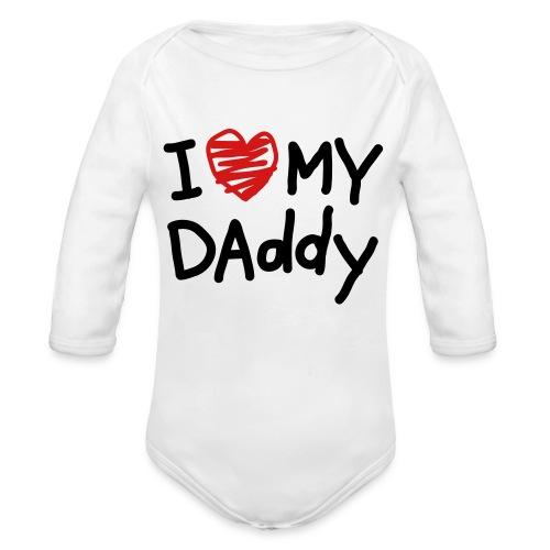 virtual dj - Organic Long Sleeve Baby Bodysuit