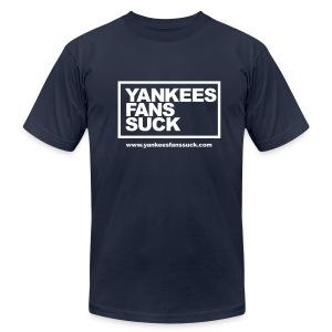 Official Yankees Fan Suck T-Shirt! - Men's Fine Jersey T-Shirt