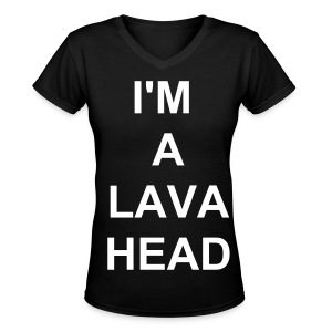 LAVA-HEAD! - Women's V-Neck T-Shirt