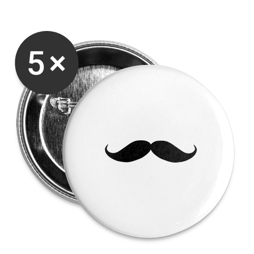 Mustache Buttons - Buttons large 2.2'' (5-pack)