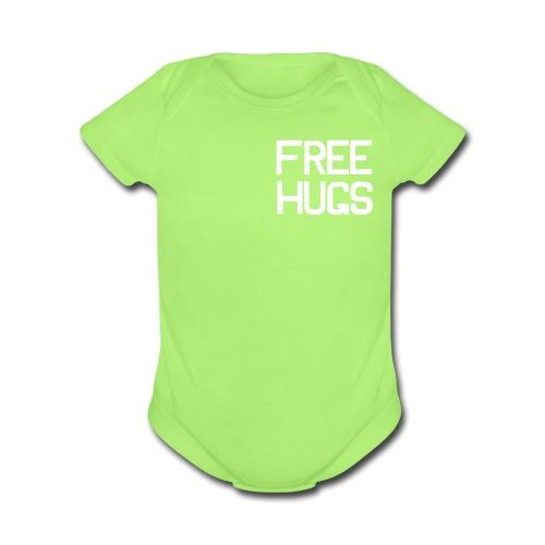 FREE HUGS INFANT CLOTHES - Organic Short Sleeve Baby Bodysuit