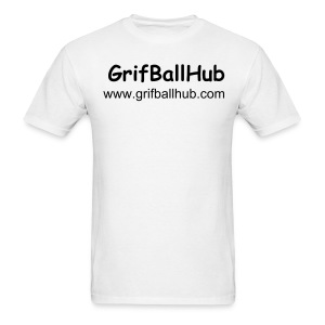 GBallHub White Male T-Shirt - Men's T-Shirt