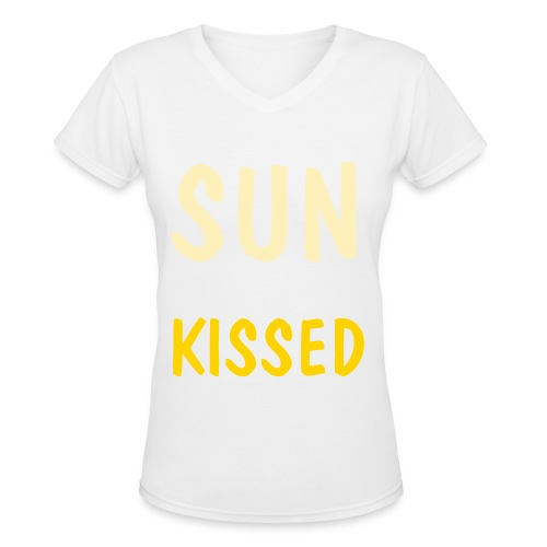 sunkissed tee.  - Women's V-Neck T-Shirt
