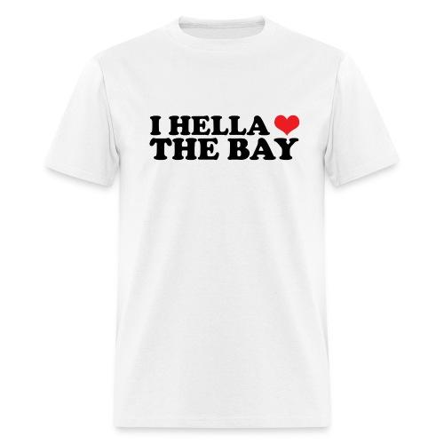 I Hella Heart the Bay Men's Standard Weight T-Shirt - Men's T-Shirt