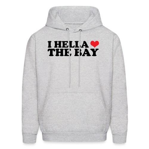 I Hella Heart the Bay Men's Hooded Sweatshirt - Men's Hoodie